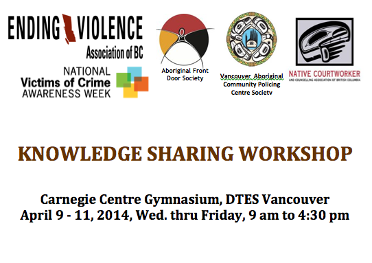Indigenous Communities Safety Project - Knowledge Sharing Workshop @ Carnegie Centre Gymnasium, DTES Vancouver | Vancouver | British Columbia | Canada
