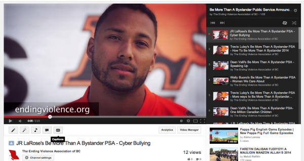 JR LaRose's Be More Than A Bystander PSA - Cyber Bullying