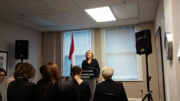 Status of Women Press Event at EVA BC Minister Findlay - Feb 11 2015