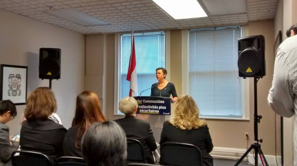 Status of Women Press Event at EVA BC Minister Leitch - Feb 11 2015